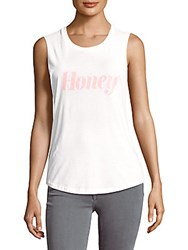 Chrldr Honey Cotton Muscle Tee White
