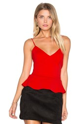 Amanda Uprichard Mimi Tank Red