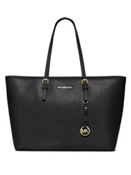 Michael Michael Kors Jet Set Saffiano Leather Travel Tote Merlot Luggage Navy Black