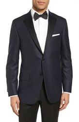 Hickey Freeman Men's Classic Fit Wool And Silk Dinner Jacket
