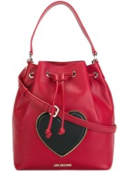 Love Moschino Bucket Shoulder Bag Red