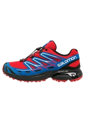 Salomon Wings Flyte Trail Running Shoes Bright Red Black Union Blue