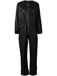 Isabel Marant Laney Jumpsuit Women Cotton Linen Flax 40 Black