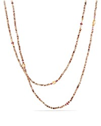 David Yurman Mustique Beaded Necklace With Andalusite Citrine And Pink Tourmaline In 18K Yellow Gold Pink Yellow