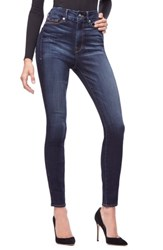 Good American Plus Size Legs High Waist Skinny Jeans Blue 183