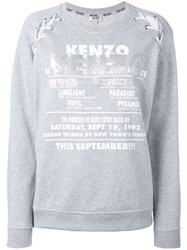 Kenzo Lace Shoulder Sweatshirt Women Cotton Polyester Triacetate L Grey