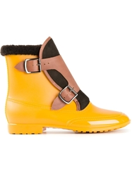 Vivienne Westwood Buckled Boots Yellow And Orange