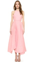 Alex Perry Lindsay Racer Maxi Dress Light Pink