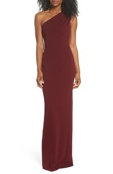 Katie May 'S One Shoulder Crepe Column Gown
