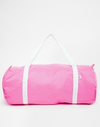 American Apparel Nylon Duffle Bag In Pink
