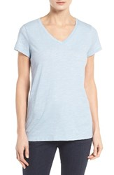 Eileen Fisher Women's Organic Cotton V Neck Tee Morning Glory