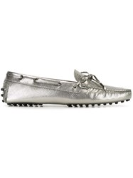 Tod's 'Gommino' Driving Shoes Metallic