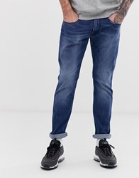 Replay Anbass Easy Stretch Slim Jean In Mid Wash Blue