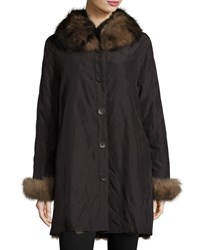 Belle Fare Reversible Packable Fox Fur Black