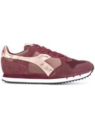 Diadora Trident Sneakers Calf Leather Leather Polyester Rubber Pink Purple