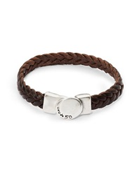 Uno De 50 Braided Leather Bracelet Brown