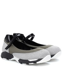 Marni Glitter And Mesh Sneakers Grey