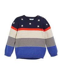 Mayoral Stars Dots And Stripes Sweater Multi