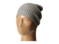 Hat Attack Waffle Stitch Slouchy Light Grey Knit Hats Gray