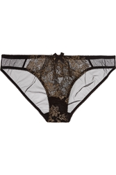 Agent Provocateur Iana Metallic Lace And Tulle Briefs