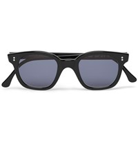 Cutler And Gross 1998 Ltd Vintage D Frame Acetate Sunglasses Black