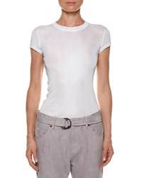Tom Ford Crewneck Short Sleeve Knit Muscle Tee White