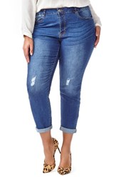 Addition Elle Love And Legend Plus Size Women's Ripped Boyfriend Jeans