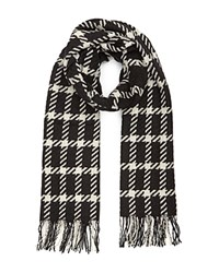 Reiss Tempest Large Check Scarf Black White