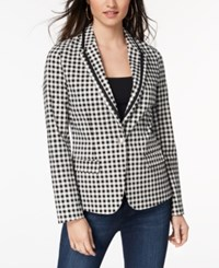 Xoxo Juniors' Gingham Print Blazer Gingham Black