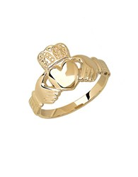 Lord And Taylor 14 Kt. Yellow Gold Claddagh Ring