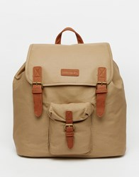 Barney's Barneys Canvas And Leather Backpack Beige