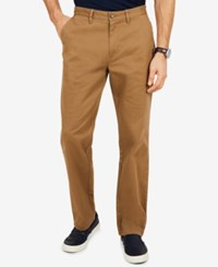 Nautica Flat Front Deck Pants Oyster Brown