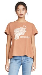 The Great Great. Boxy Crew Tee With Tiger Graphic Sweet Tea