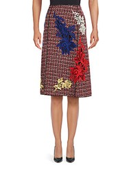 Marc Jacobs Embroidered Tweed A Line Skirt