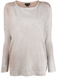 Avant Toi Fine Knit Top Neutrals