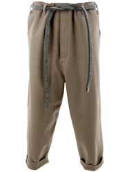 Toogood The Sculptor Felted Trousers Brown