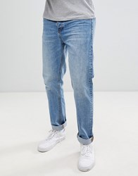 Dr. Denim Dr Gus Relaxed Straight Jeans In Light Blue Wash Light Blue Wash