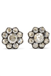 Fred Leighton Collection 18 Karat Gold Diamond Earrings One Size