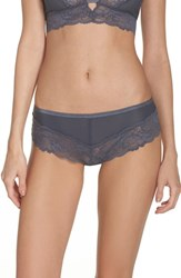 Chelsea 28 Chelsea28 Kiss Kiss Lace Hipster Panties Grey Turbulence