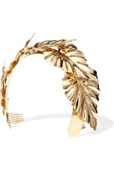 Lelet Ny Palm Leaf Halo Gold Plated Headband One Size