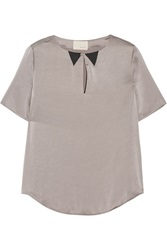 Band Of Outsiders Satin Top Nude