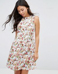Sugarhill Boutique Hatty Floral Dress Light Blue