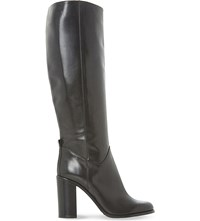 Dune Black Rana Knee High Leather Boots Black Leather