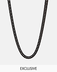 Reclaimed Vintage Chunky Necklace Black
