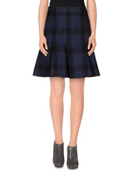 Ndegree 21 Knee Length Skirts Dark Blue