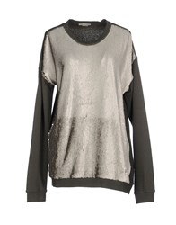 Pinko Topwear Sweatshirts Women Military Green