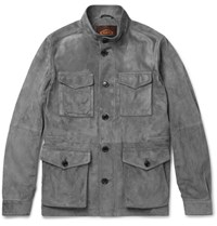 Tod's Iconic Suede Field Jacket Gray