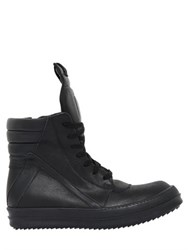 Rick Owens Geobasket Leather Sneakers