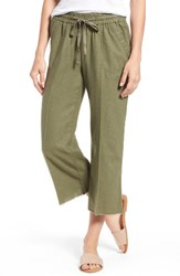 Wit And Wisdom Women's Drawstring Crop Sailor Pants Military Green
