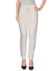 Annarita N. Trousers Casual Trousers Women Ivory